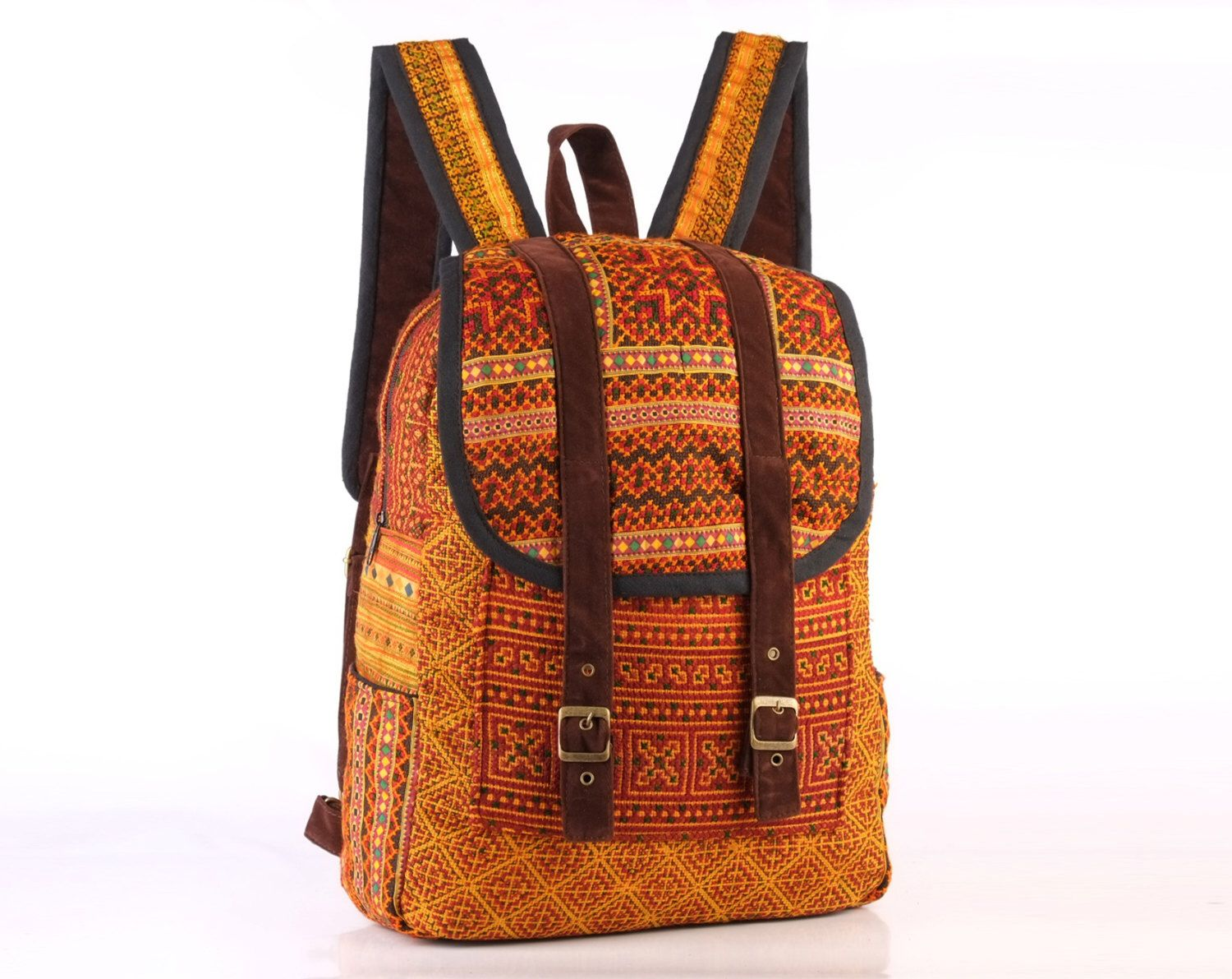 Gypsy Hippie Backpack Oriental Traditional Vintage Tribal Fabric ...
