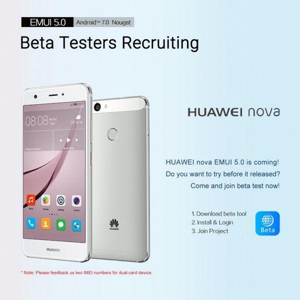 Huawei Nova Android 7 0 Nougat Update: Beta-Tester gesucht | Mine