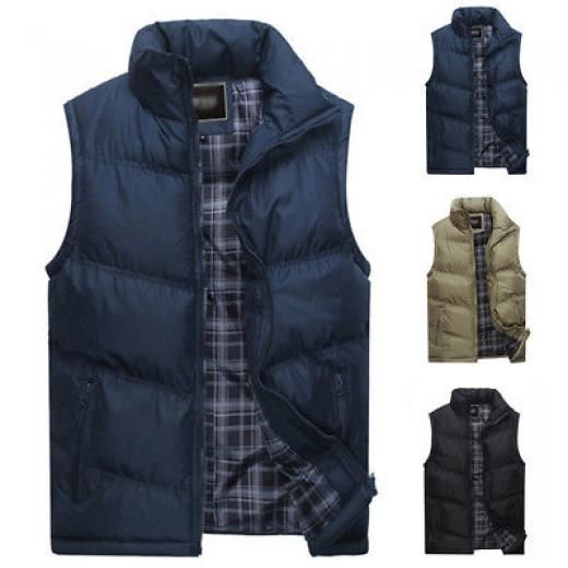 2e4f72419d Fashion Men Waistcoat Comfort Winter Vest Warm Stand Collar Coat Slim Fit  Jacket Big   Tall Cotton+polyester China Solid Photographer