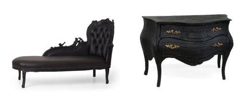 Burnt furniture by Maarten Baas