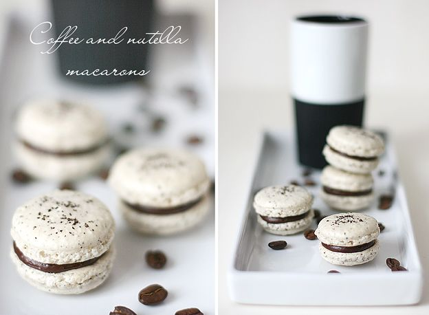 Call me cupcake: Coffee and nutella macarons!