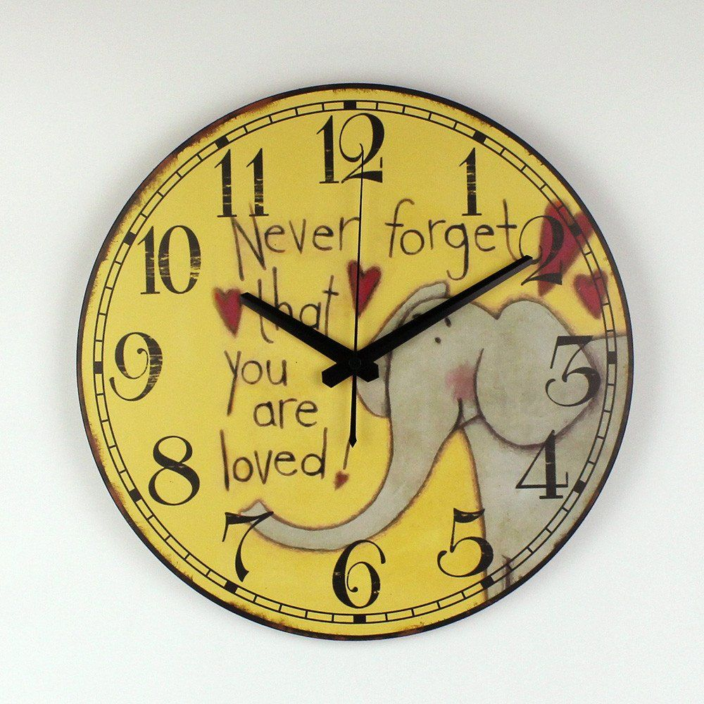 The Cartoon Elephant Wall Decoration Watch For Children Room Safe ...