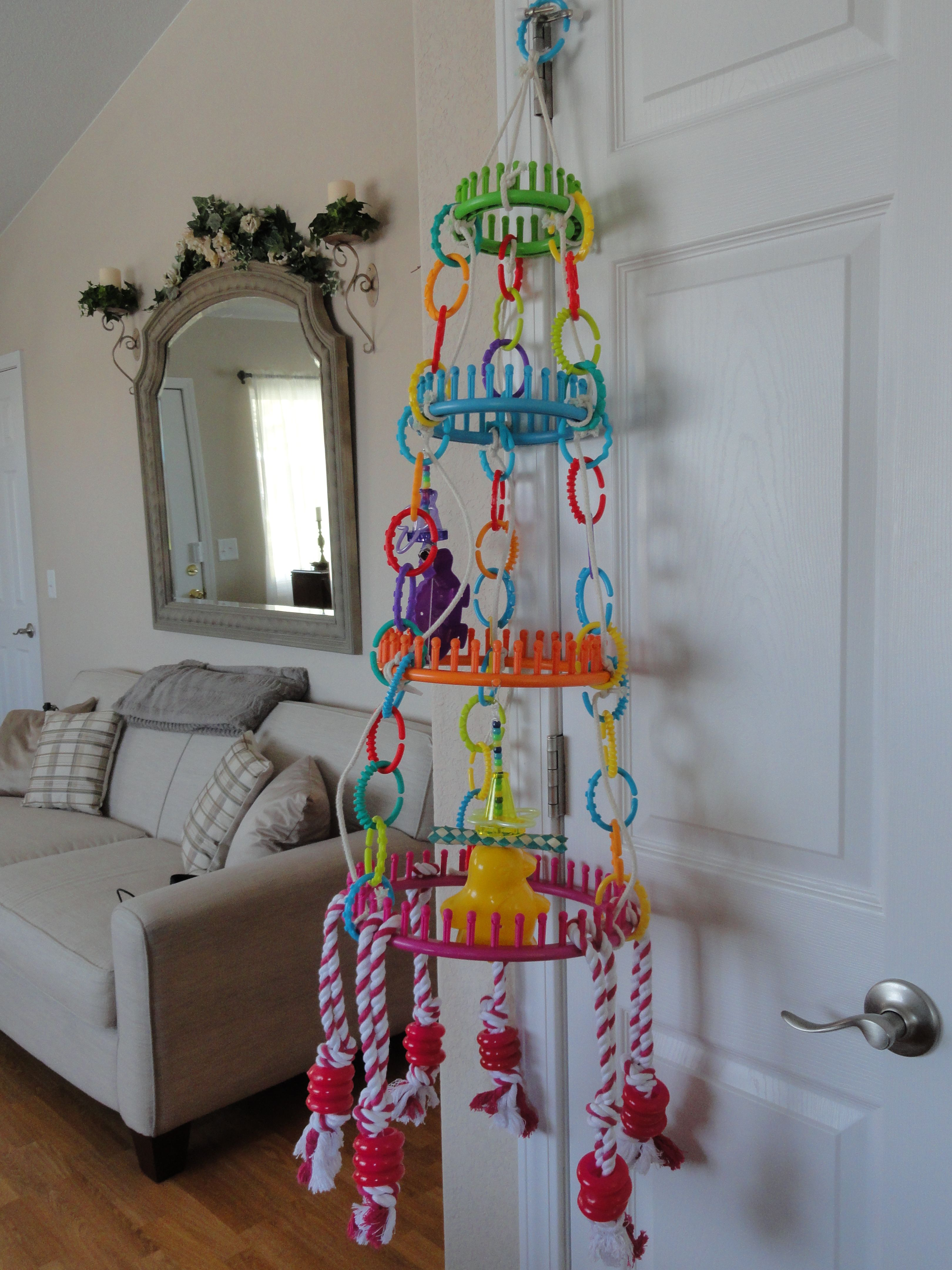 Peppins Rainbow Falls, hoop hanger, toy holder that I made