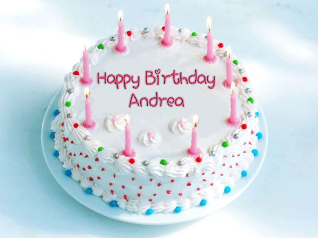 Happy birthday andrea happy birthday cake photo happy