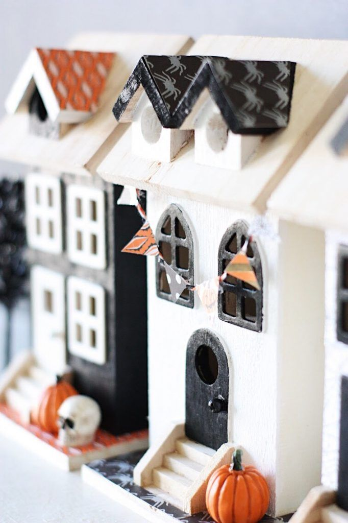 How to Make a DIY Halloween Village | The Pretty Life Girls