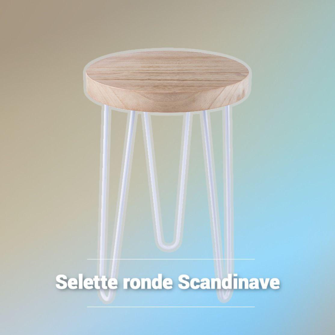 Sellette Ronde Scandinave La Foir Fouille Decorer Les Petits Espaces Sellette Deco Scandinave