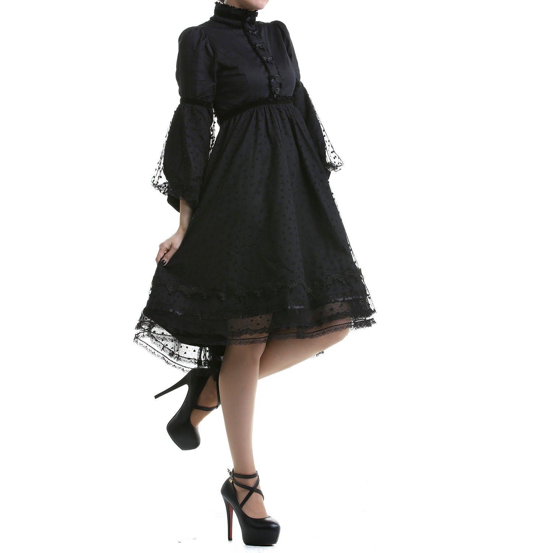 Schwarzes Gothic Kleid mit Tüll | Crazyinlove Deutschland | mein ...