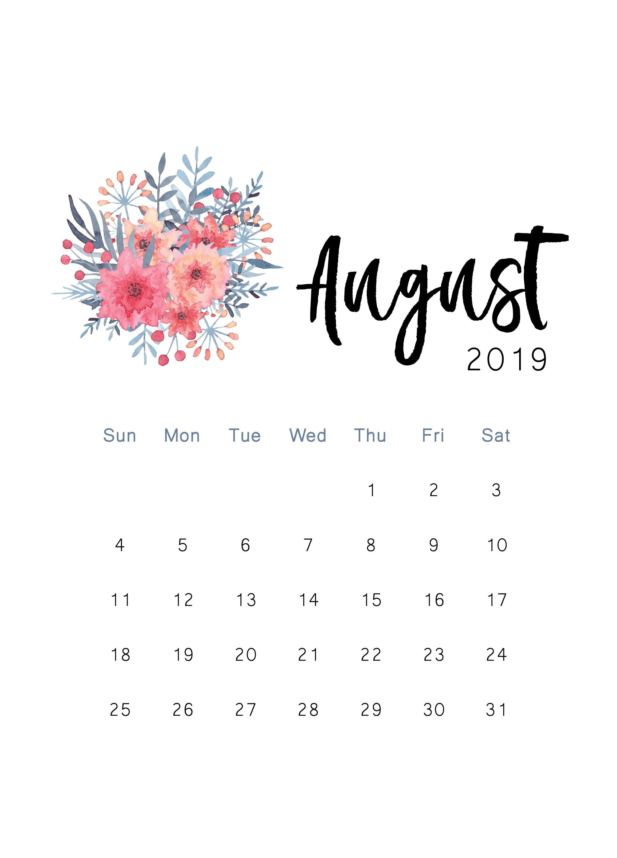 Free 2019 Printable Calendar Perencanaan Rencana Kehidupan