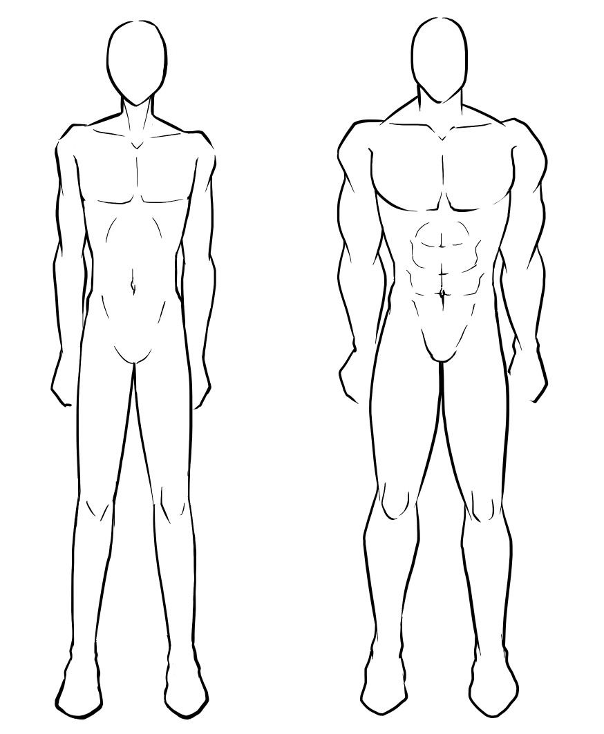 Male body skinny muscular how to draw manga anime