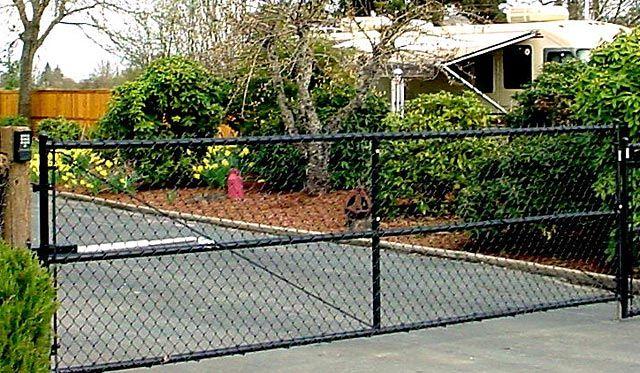 Chain link driveway gates google search belvidere