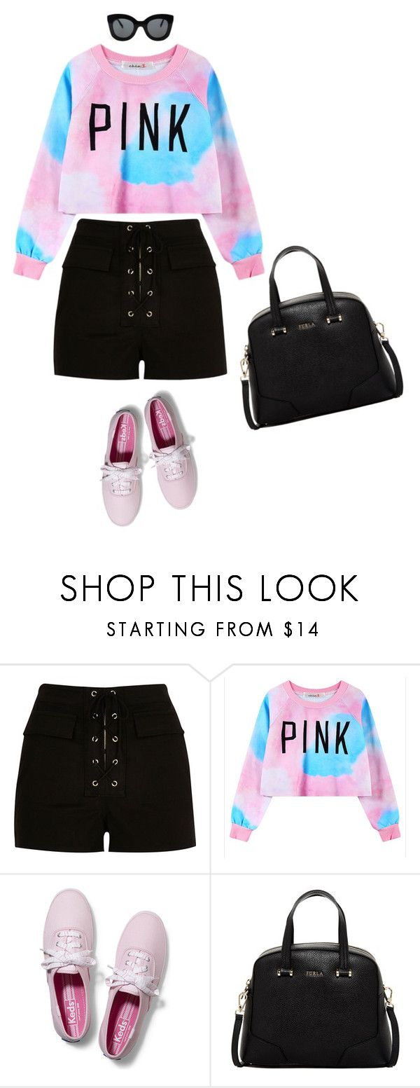 """""""Untitled #1169"""" by isabelbeeson ❤ liked on Polyvore featuring River Island, Chicnova Fashion, Keds, Furla and CÉLINE"""