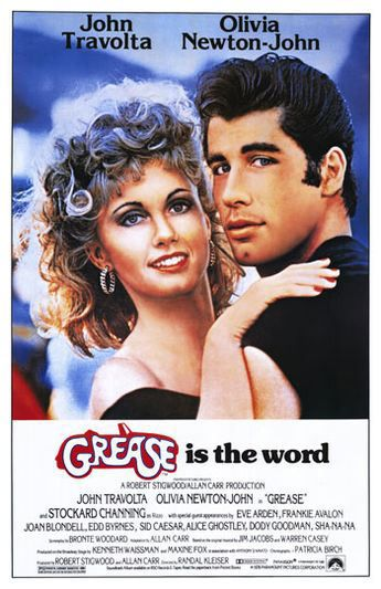 cartel de la pelicula grease