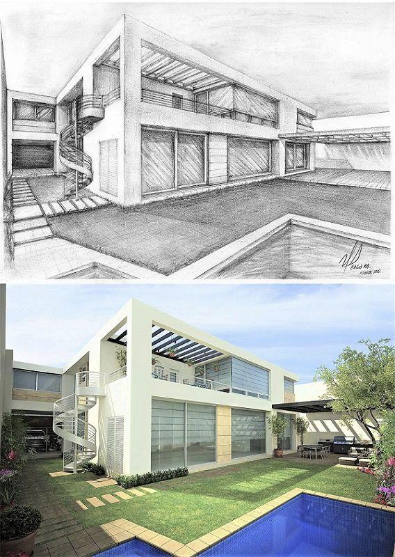 Victor Diaz Arquitectos Sketches Bocetos Arquitectura Arquitectura Conceptual Arquitectura Paisajista