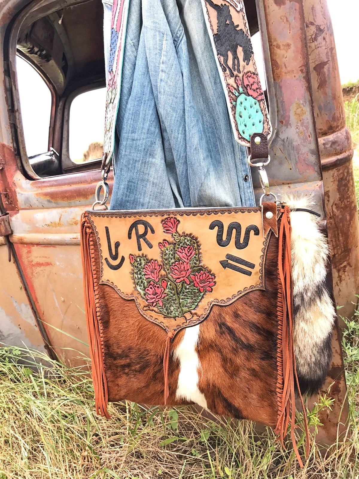Western Leather Purse Handmade By