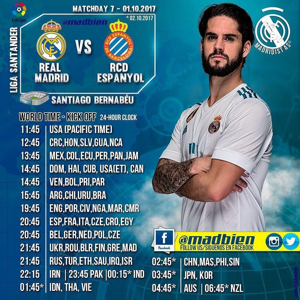 Horarios RCD Espanyol LaLiga Domingo 01.10.17 Santiago