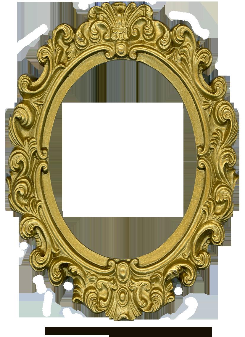 Ornate Gold Frame Oval 1 By Eveyddeviantartcom On