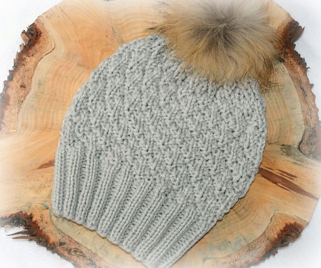 Bobble Hat Womens Textured KPWP09 pattern by Marisa Perrin ...