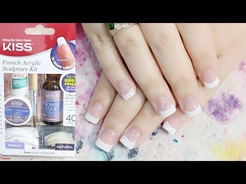 Acrylic Nail For The First Time Kiss French Acrylic Sculpture Kit Acrylic Nails At Home Youtube Diy Acrylic Nails Acrylic Nail Kit Acrylic Nails At Home