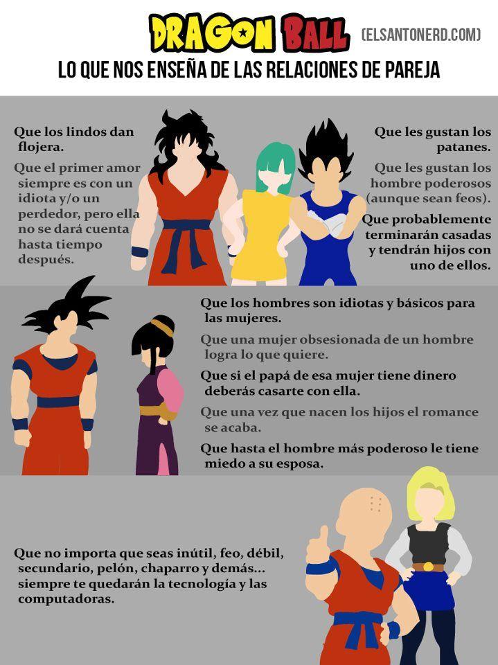 Dragon Ball Y Las Relaciones De Pareja Elsantonerd Com Dragones Dragon Ball Humoristico