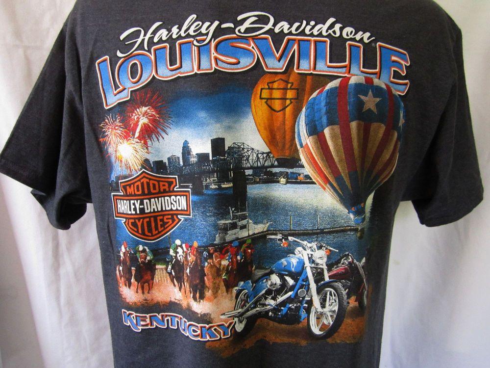 Louisville Harley Davidson >> Harley Davidson Mens Louisville Kentucky Derby Tee Shirt