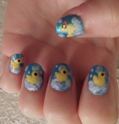 Rubber Duck Nails Nails Pinterest Duck Nails