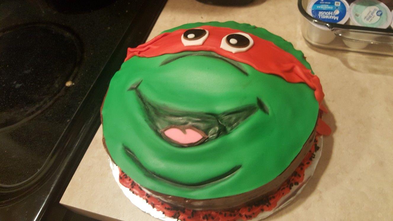 Ninja Turtle Birthday CakeRaphael Cakes Pinterest Birthday