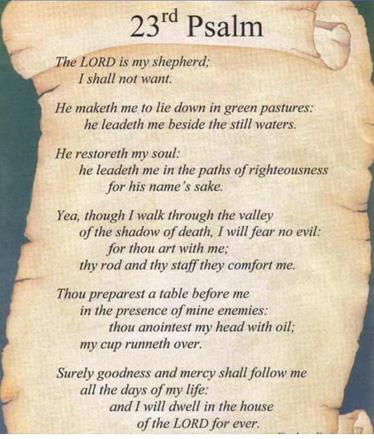 City Of Philadelphia Psalms Lord Is My Shepherd Psalm 23 Kjv