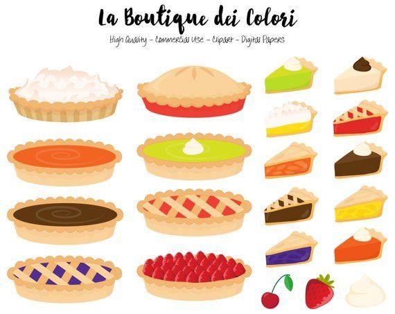 Pie Clipart Cute Graphics Png Pumpkin Pie Strawberry Pie Etsy In 2020 Clip Art Thanksgiving Desserts Easy Cherry Tart