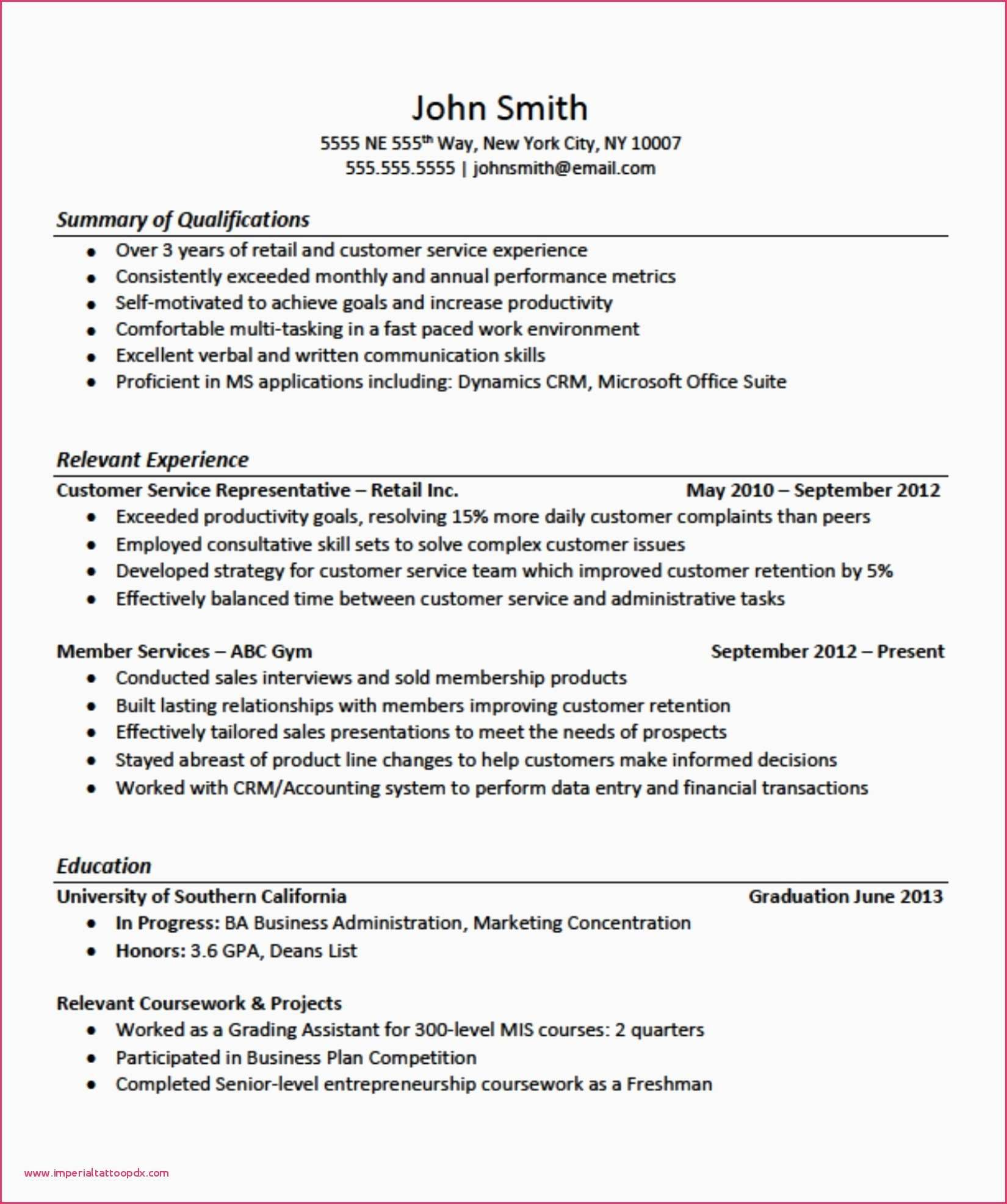 77 Elegant Image Of Sample Resume for Professional