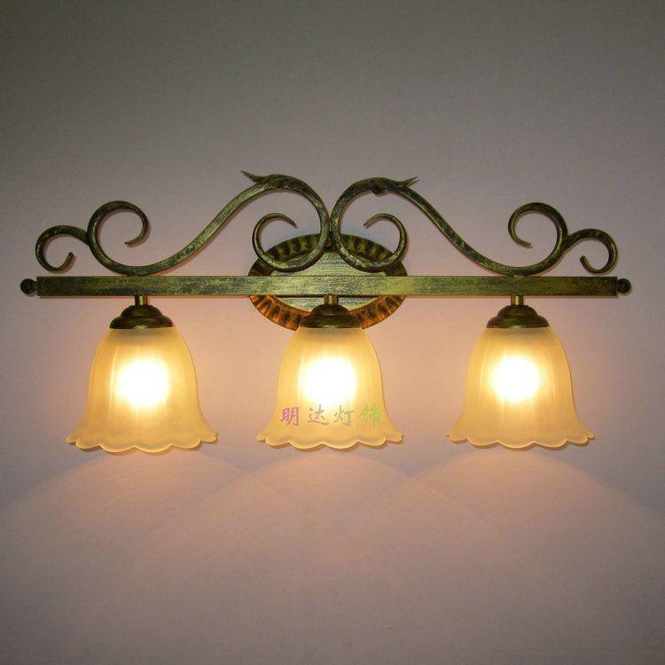 Wrought Iron Bathroom Light Fixtures