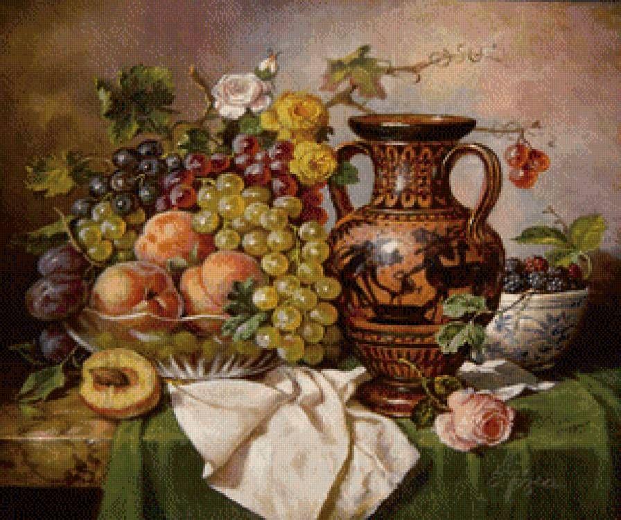 фрукты в вазе картинки для декупажа