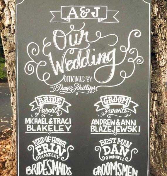 Chalkboard Sign // Wedding // Custom Made Ceremony Program