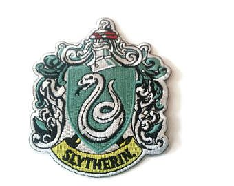"""Harry Potter Slytherin snake embroidered patch-heat sealed-iron on-sew on backing-size 4 X 3"""" - Edit Listing - Etsy"""