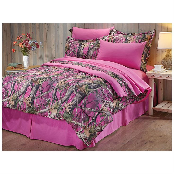 Next Vista Pink Camo Complete Bed Set, Realtree Pink Camo Bedding Queen