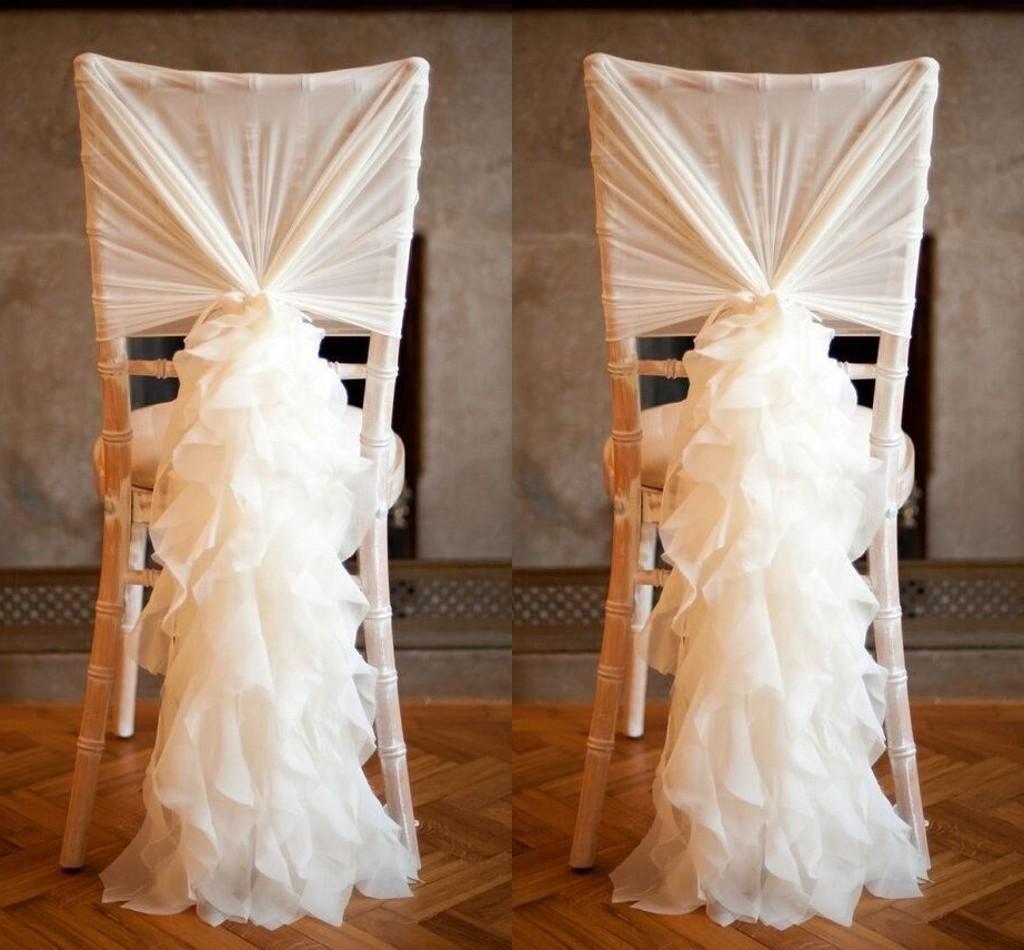 Chiffon Ruffles Chair Sashes 2015 Best Selling Wedding Supplies