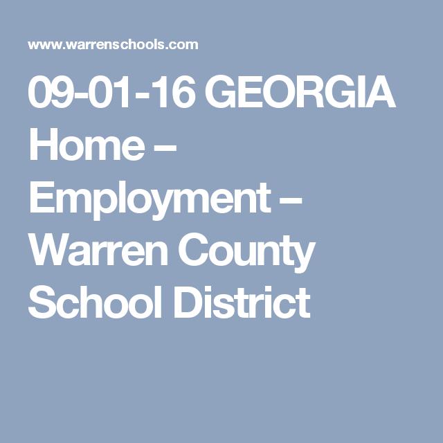 Tennessee Home  Employment  Warren County School