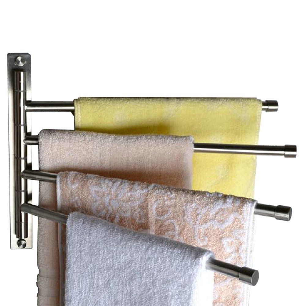 Kes Sus 304 Stainless Steel Swing Out Towel Bar 4 Bar