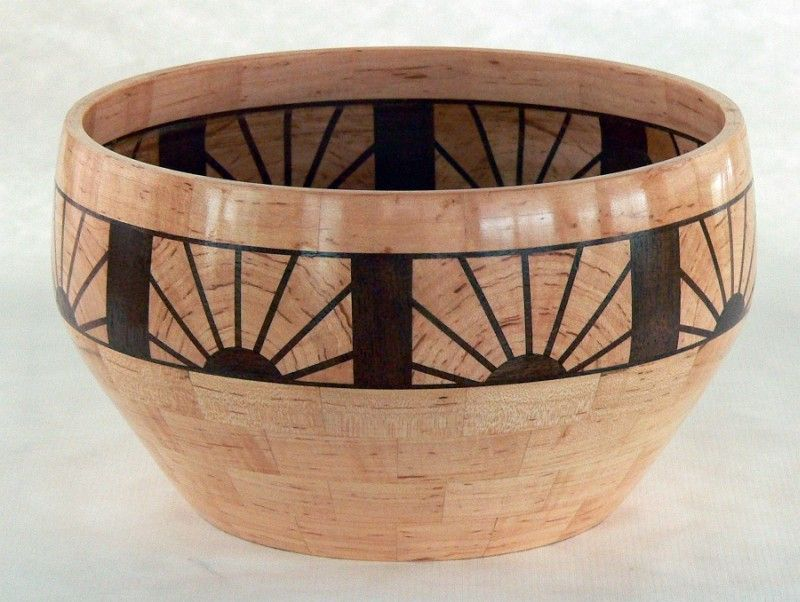 Segmented turning feature rings soft maple with walnut
