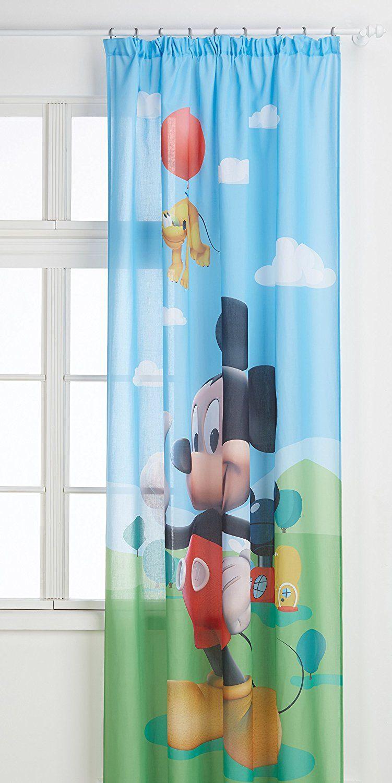 Disney Mickey Mouse, Kinderzimmer Gardine / Vorhang für ...