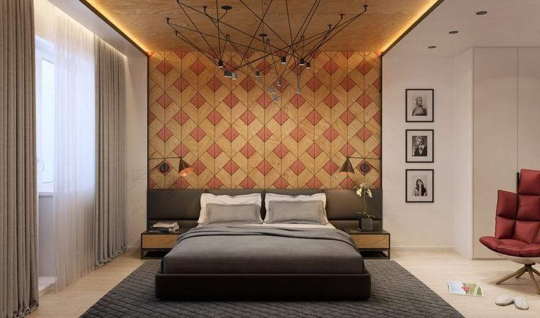 Holz Textur und mehr Ideen, um das Schlafzimmer zu dekorieren