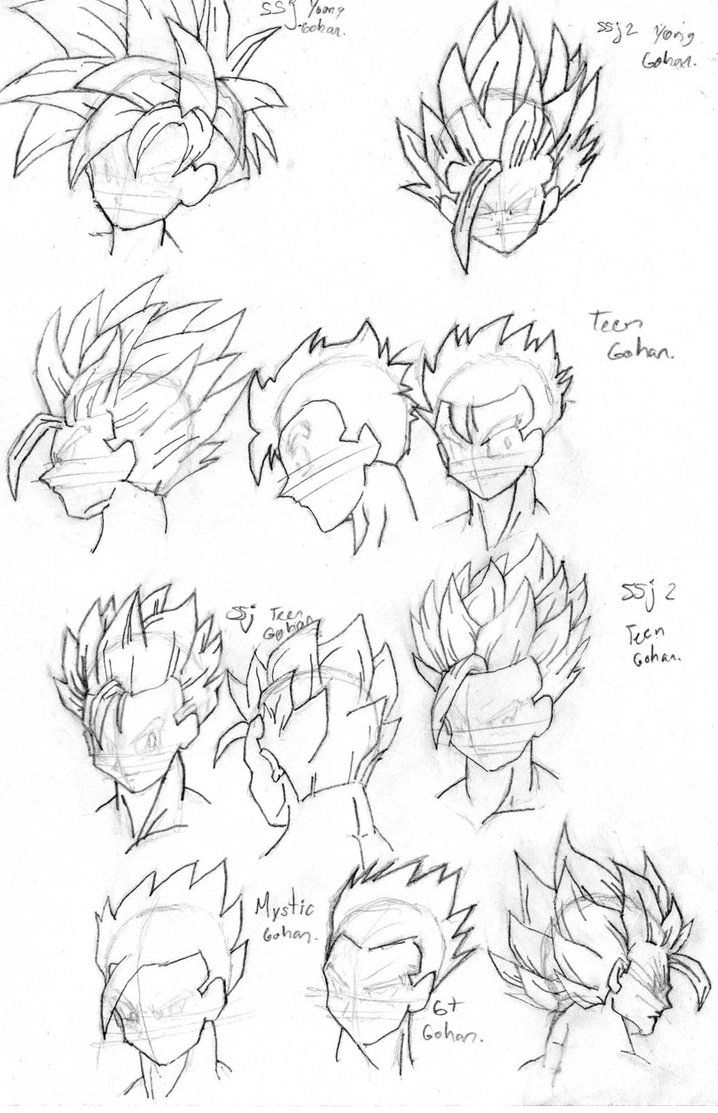 Cabellera De Gohan By Rasec Dragon 91 Drawing Tutorial Pinterest