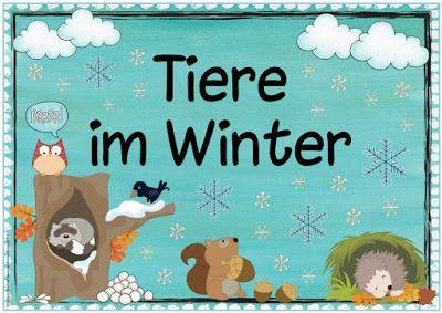 ideenreise themenplakat tiere im winter plakate kindergarten portfolio kindergarten. Black Bedroom Furniture Sets. Home Design Ideas