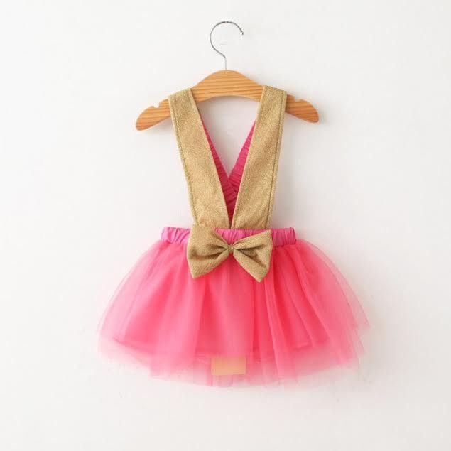 "Pink Tulle and Gold Glitter ""KINSLEY"" Jumper"