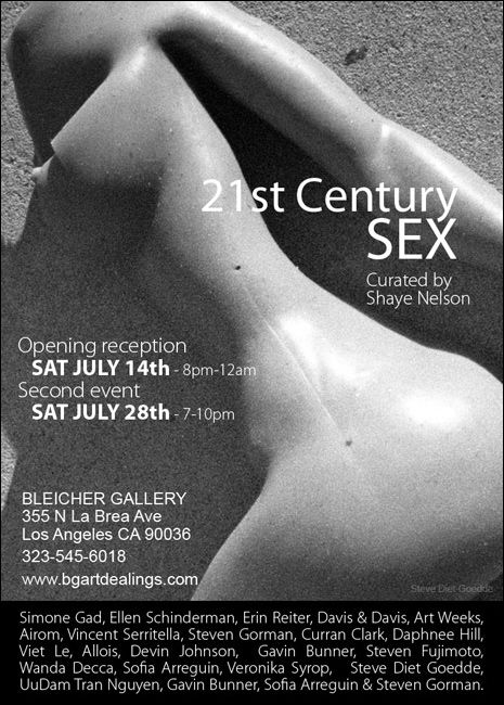 """21st Century SEX"" group show at Bleicher Gallery in Los Angeles this SATURDAY. I have 4 photographs in the show, and if you're in town, I'd love to meet you."