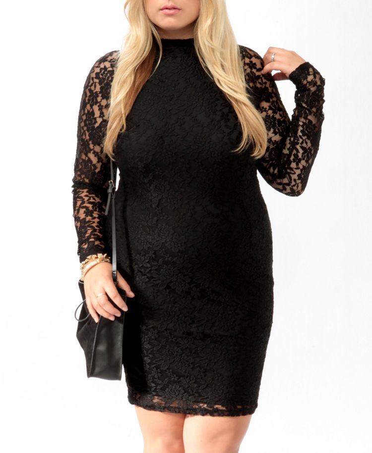 The perfect lace dress to wear with a pop of color jewelry.
