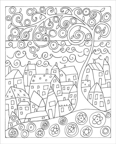 Fanciful Folk Art Coloring Book From Knitpicks Com Knitting By Gerard Karla On Sale Paper Embroidery Rug Hooking Patterns Coloring Books