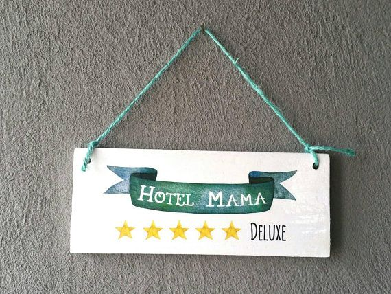 Door sign, german text, family door sign, gift for mother, wooden door sign, housewarming gift, sign with quote, mothersday gift, home decor
