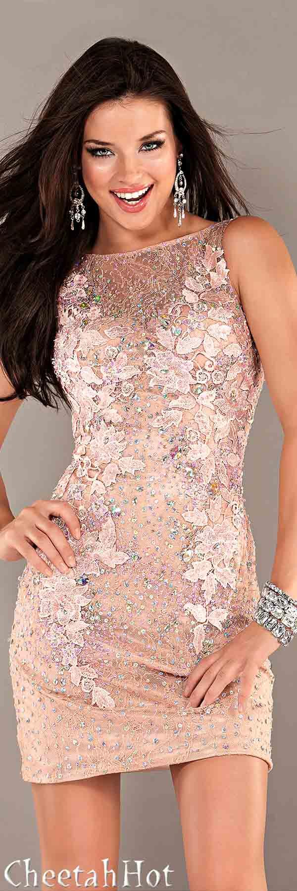 JOVANI - Lacy Pink Dress | Fashion | Pinterest | Vestiditos ...