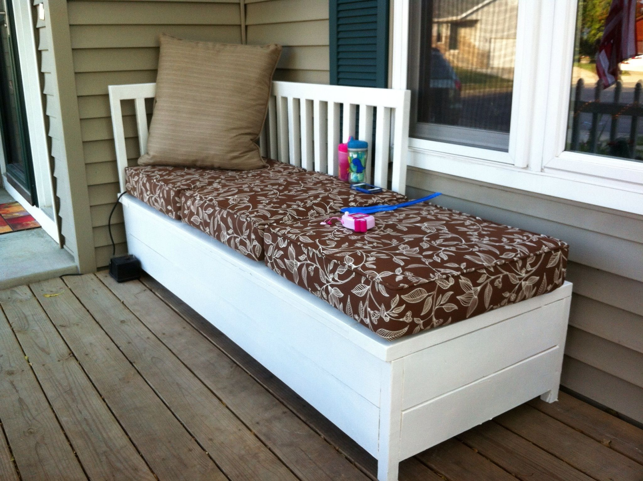 Porch Bench With Storage Do It Yourself Home Projects From Ana