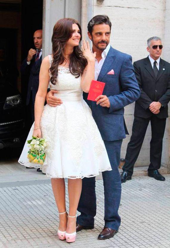 Vestido de civil de Javier Saiach | Boda Araceli Gonzalez y Fabian ...